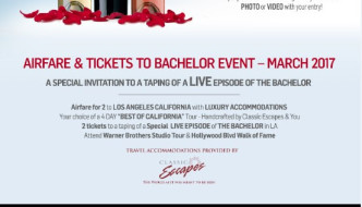 The Bachelor Wines: Final Rosé Sweepstakes!
