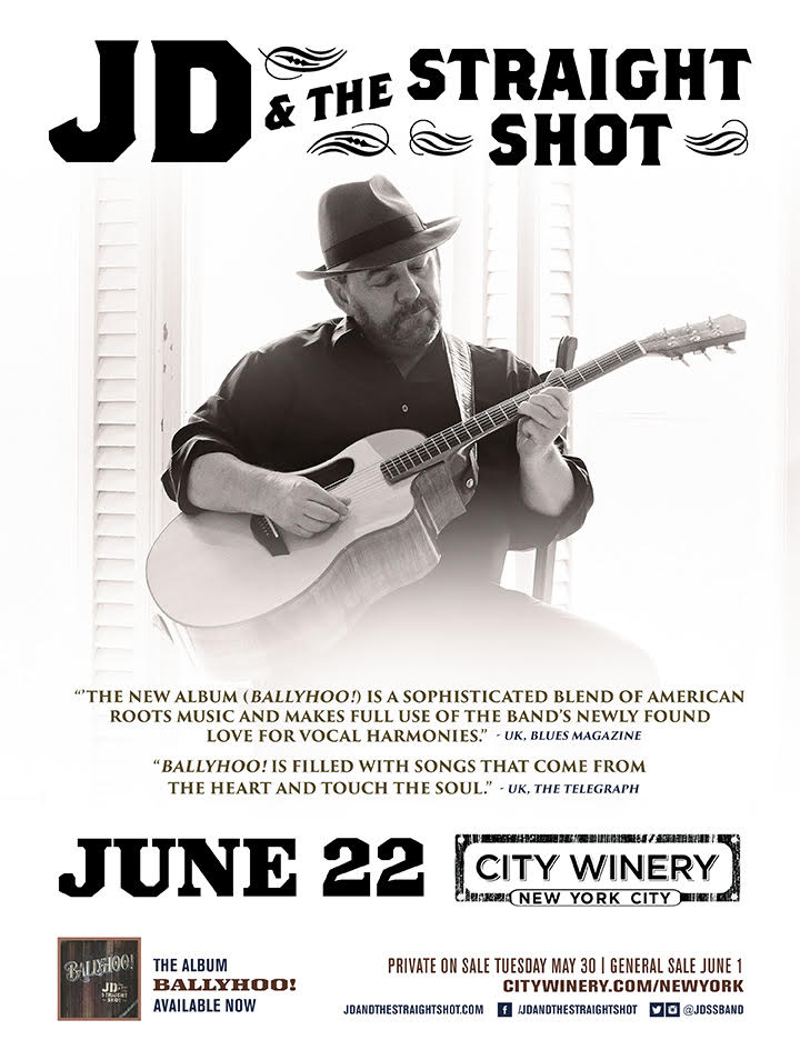 JD & The Straight Shot comes to City Winery on June 22nd